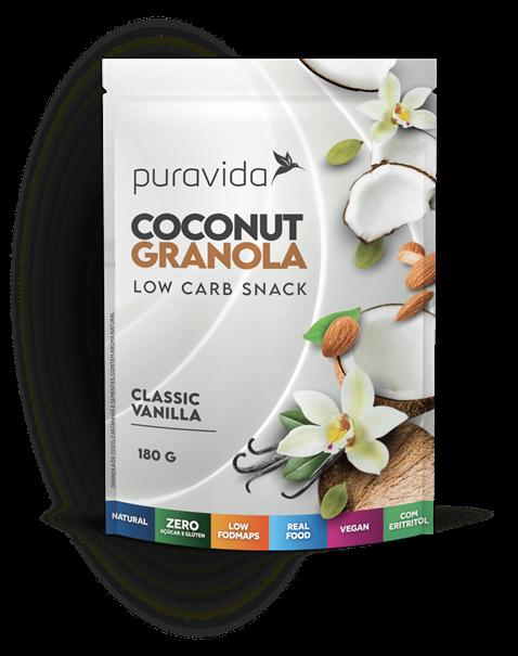 Imagem de Coconut Granola - Classic Vanilla - Puravida 180g
