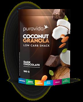 Imagem de Coconut Granola - Dark Chocolate - Pura Vida 180g