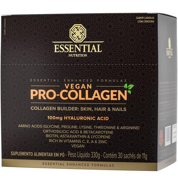 Imagem de Collagen Vegan Pro Essential Laranja e Cenoura 330g/30 sachês