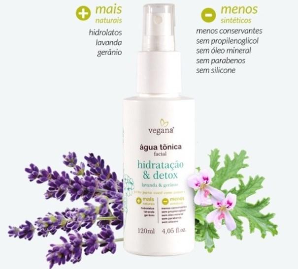 Imagem de Agua Tonica Facial e  Hidratacao Detox - Vegana Cosmeticos 120ml