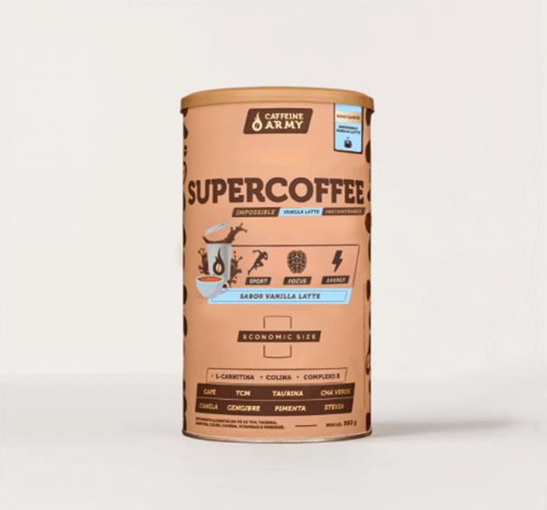 Imagem de Supercoffee Vanilla Latte Caffeine Army 380g