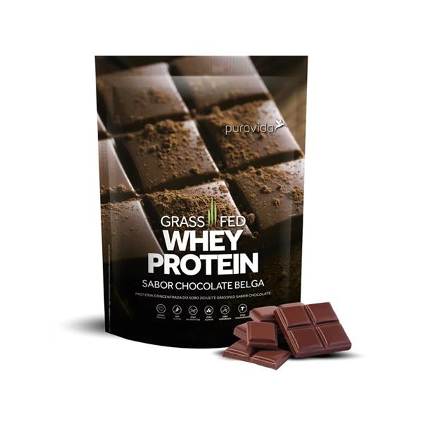 Imagem de Proteína Grass Fed Pura Vida Chocolate Belga 450g