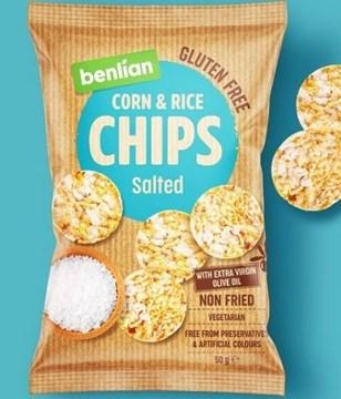 Imagem de Biscoito de  Arroz e Milho Chips - Benlian 50g