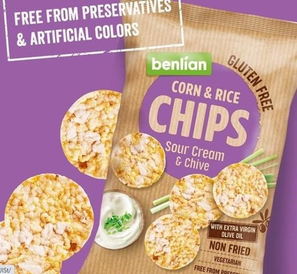 Imagem de Biscoito de Arroz Chips Cebola - Benlian 50g