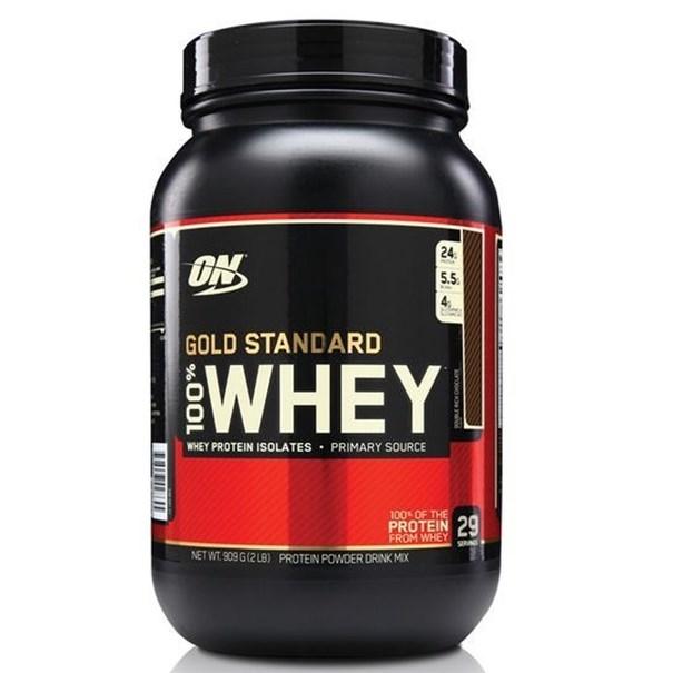 Imagem de Whey Protein Gold Standard 100% 909G - Chocolate - Optimum Nutrition