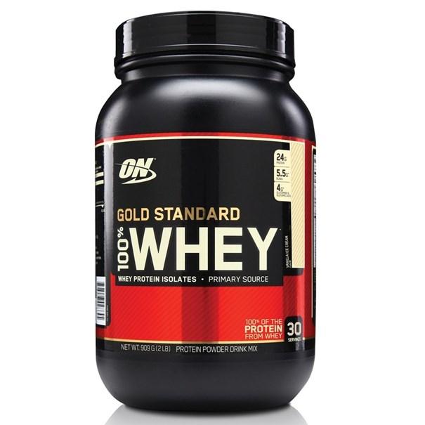Imagem de Whey Protein Gold Standard 100% 909G - Baunilha - Optimum Nutrition